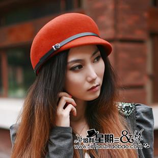 Fashion vintage edition woolen equestrian cap autumn and winter female