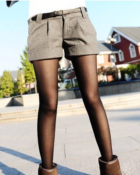 Fashion wild woolen curling female the shorts ,Slim boots pants,free shipping