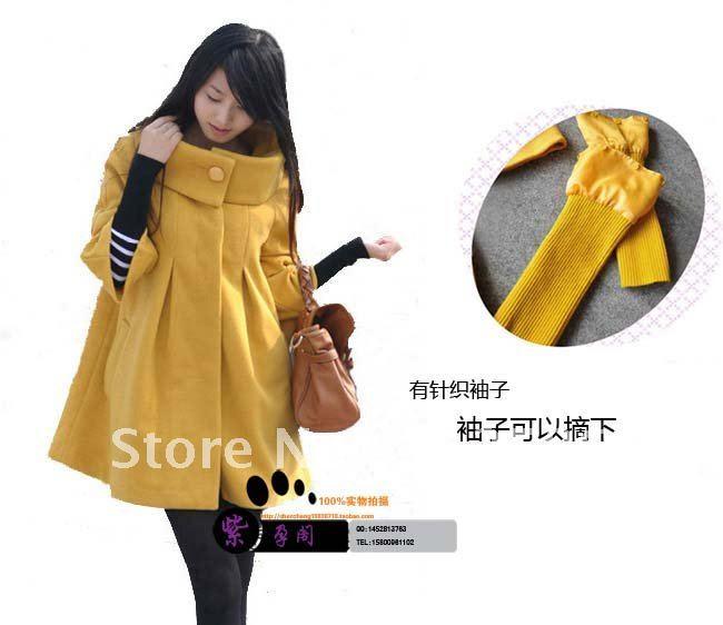 Fashion- winter women's cashmere cloak outerwear wool coat woolen outerwear women's winter coat