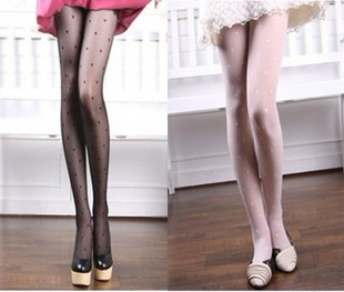 Fashion women lovely peach heart pantyhose sexy elastic stockings Free Shipping