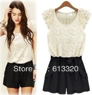 fashion women's lace jumpsuits 2 colors free shipping