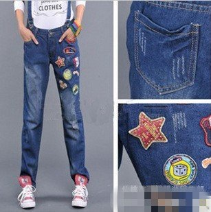 Fast&Free Shipping wholesale price Korean 2012 new fashion Lovely Jeans trousers women jumpsuits ladies pants