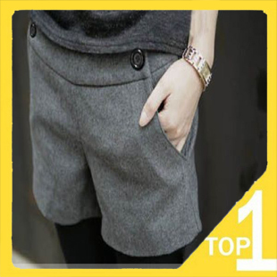 Fast shipping! Wholesale New 2012 Casual slim Women's shorts winter warm wool short pants in Korea style 818