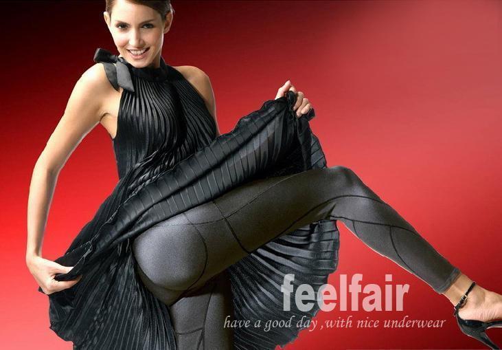 Feelfair body shaping beauty care underwear capsaicin abdomen drawing butt-lifting pants legs plastic pants 's fragility body