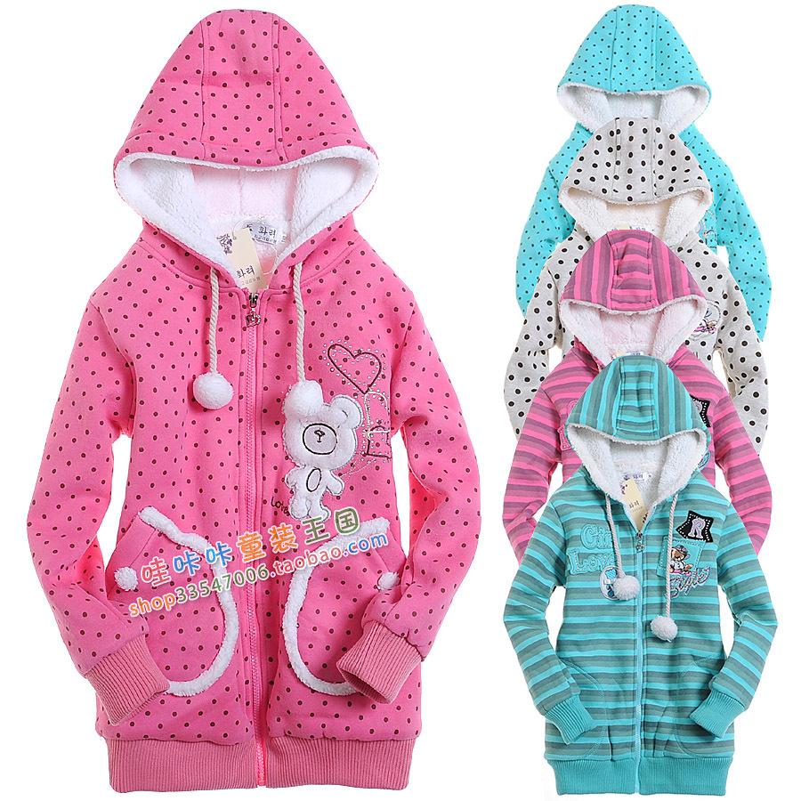 Female child wadded jacket cotton-padded jacket outerwear winter 2012 cotton-padded jacket child thickening plus velvet