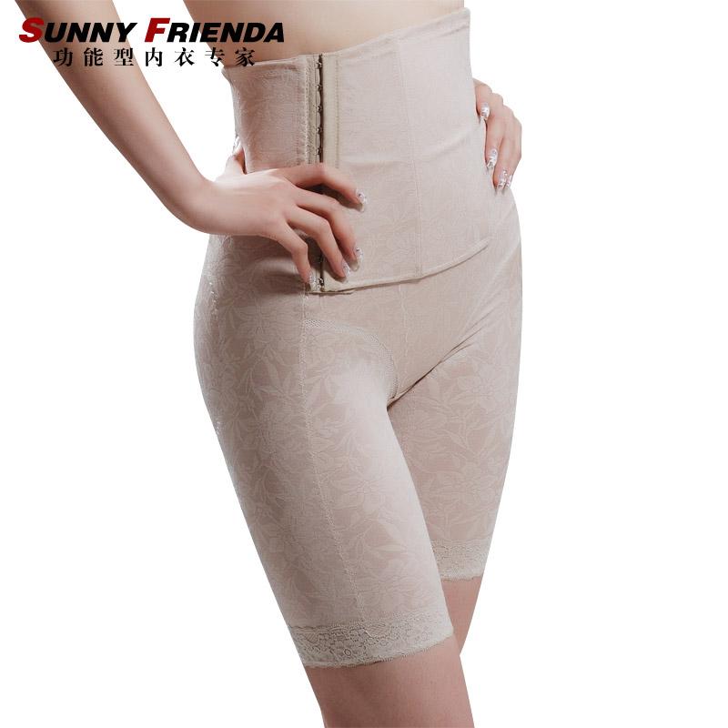Female high waist abdomen drawing butt-lifting body shaping pants corset pants 2606
