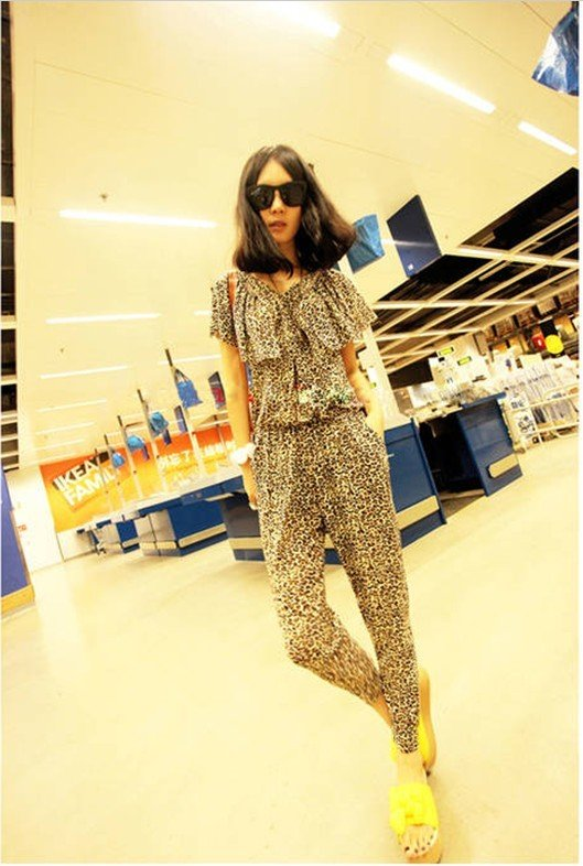 ferr shopping!2012 new women's summer in Europe and America big thin piece pants fashion piece leopard pants slacks tide