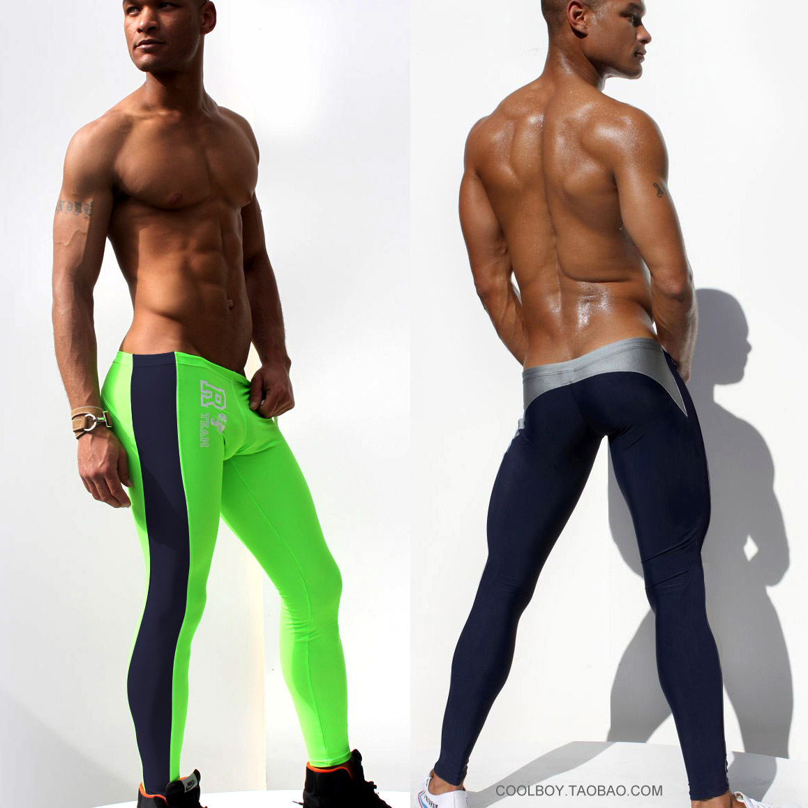 Free postage Aqux male trousers lounge pants at home elastic tights fitness swimming trunks sports long johns