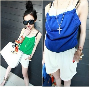Free services 2012 contrast color elegant chain tube top jumpsuit y61