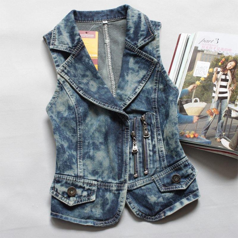 Короткая жилетка джинсовая своими руками 68