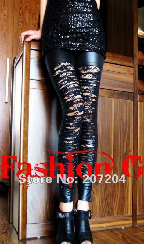 Free ship Sexy fashion black lace net Slim Tights Pantyhose ladies'  Leggings Women Stockings clubwear  HOT