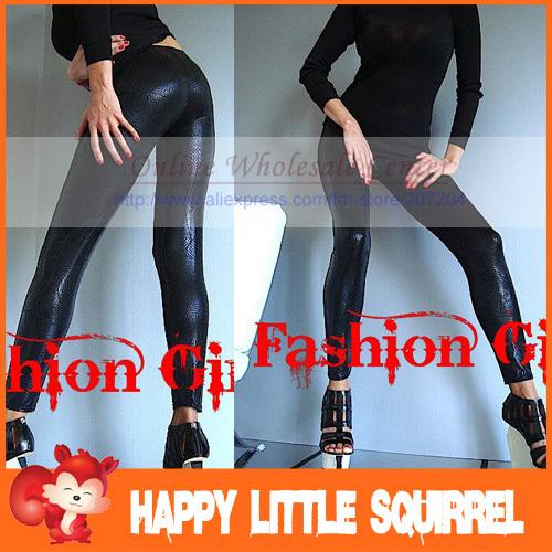 Free ship Sexy fashion black lace Snakeskin Slim Tights Pantyhose ladies'  Leggings Women Stockings clubwear  HOT