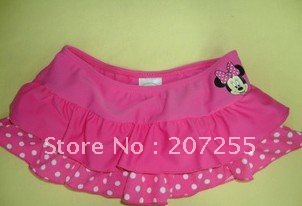 free ship Wholesale - children  girl  cover-ups Minnie the beach skirt and swimwear spandex skirt with underwear ( 10pcs/lot)