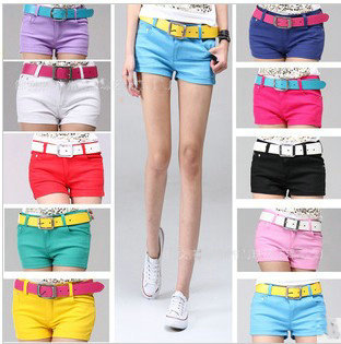 Free shiping  The Super Q candy 10 color Superman essential color shorts hot casual shorts shorts