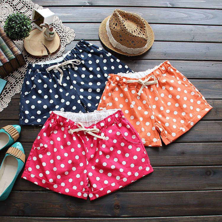 Free shipping! 0886 summer 2012 sweet dot casual roll up hem women's shorts hot trousers