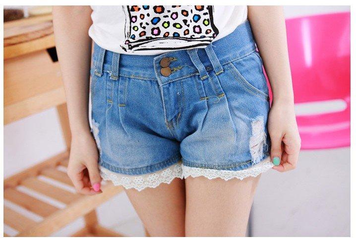 Free Shipping (1 piece/lot) missfeel flagship of quality denim shorts,high quality short pants
