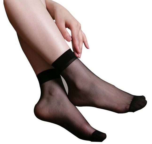 Free Shipping 10 pair Thin woman Black Flesh Nylons socks low-cost sales