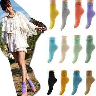 Free Shipping 10 pcs/lot Vintage Solid Color Soft Velet Socks Vivi Stockings,Ankle Socks Women's Socks Wholesale