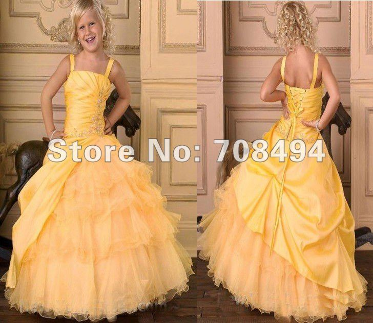 Free shipping 100% gurantee new stylish ball gown lovely cute christening dress for the flower girl children-perfect gowns