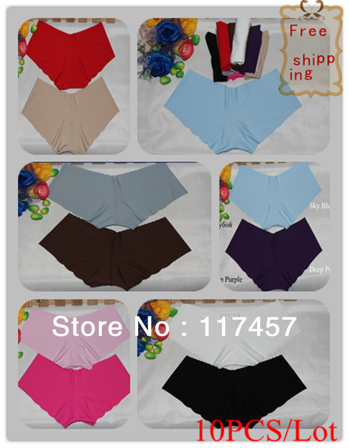 Free Shipping 10PCS/Lot   women's sexy underwears Low waist sexyg thongs panties for women underpants One-piece Seamless