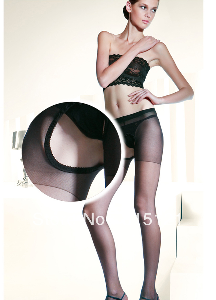 free shipping 10pieces 100% spandex Black silk stockings open sexy silk stockings, off from pantyhose ,  8001