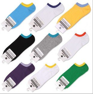 Free shipping/12 pair cotton men or women's Fashion Low Cut socks/multicolour mixed