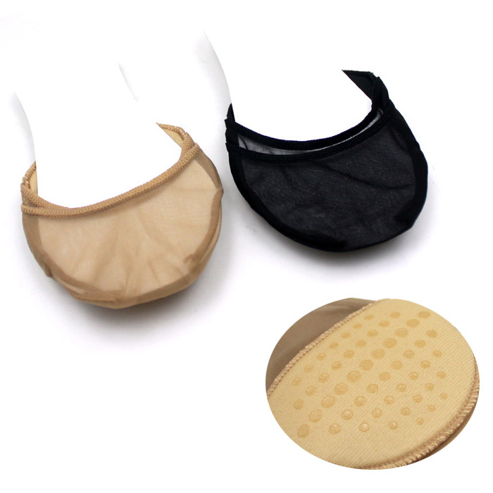 Free shipping (12 pieces/lot) Invisible socks foot pad sole of half yard pad glue slip-resistant Peds & Liners