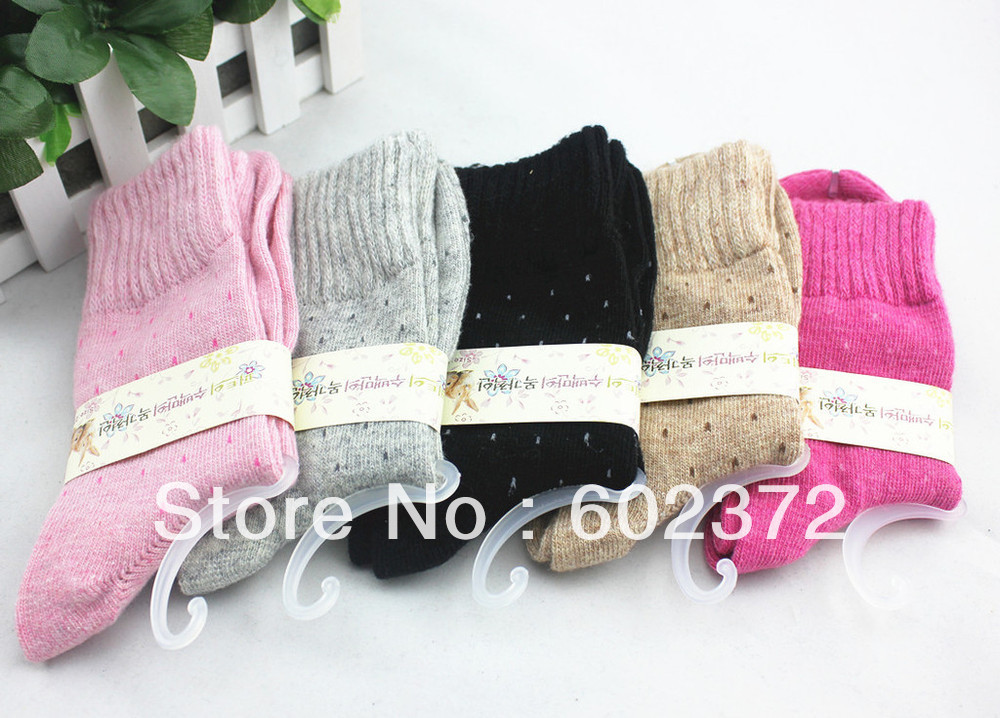 Free Shipping! 12pairs/lot   Brand women's cashere socks  winter sock export quality sock