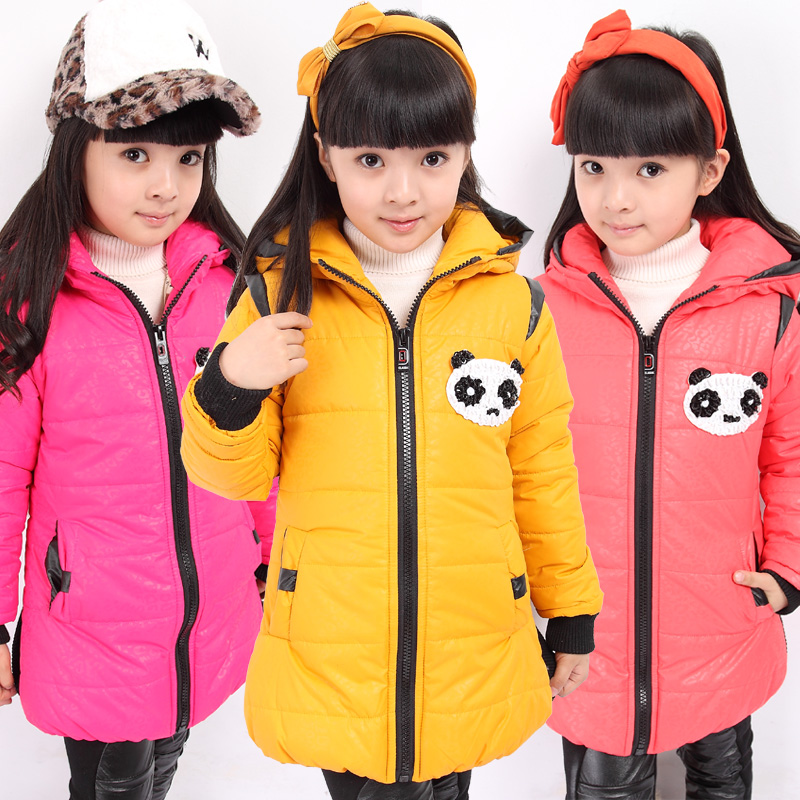 Free shipping 1850 2013 child fashion child winter girls clothing outerwear thickening wadded jacket cotton-padded jacket
