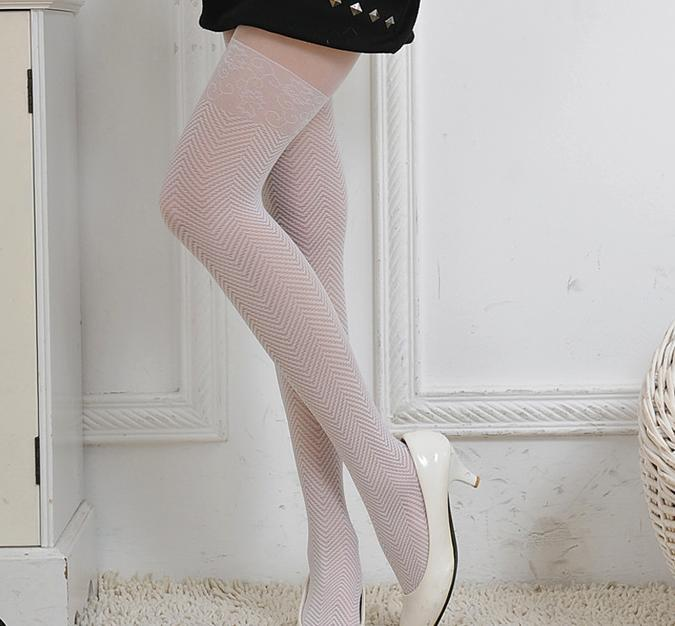 FREE SHIPPING 1piece  Elegant Lace Water ripples Arrow Stockings Pantyhose