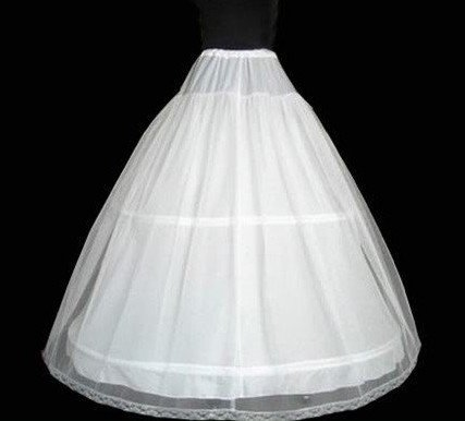 Free shipping: 2 hoop petticoat with lace edge