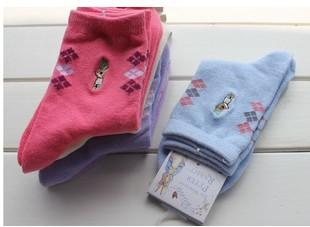 Free shipping 20 pairs/lot lovely cartoon Peter Rabbit socks / women socks 100% cotton embroidery sock multicolor wholesale