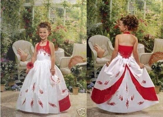 Free shipping 2011 new arrival ruffle ball gown halter flower girl dress children gown dress