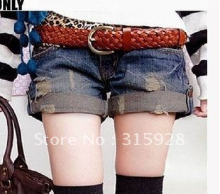 Free shipping 2011 new women's fashion jeans worn shorts 8188 shorts