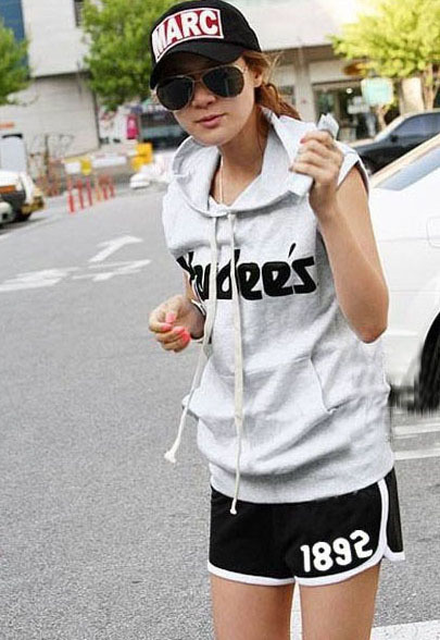free shipping 2012 100% cotton female casual letter print shorts sports shorts beach shorts