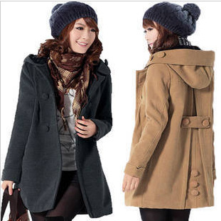 free shipping 2012 autumn maternity clothing woolen plus size maternity outerwear fashion maternity overcoat outerwear