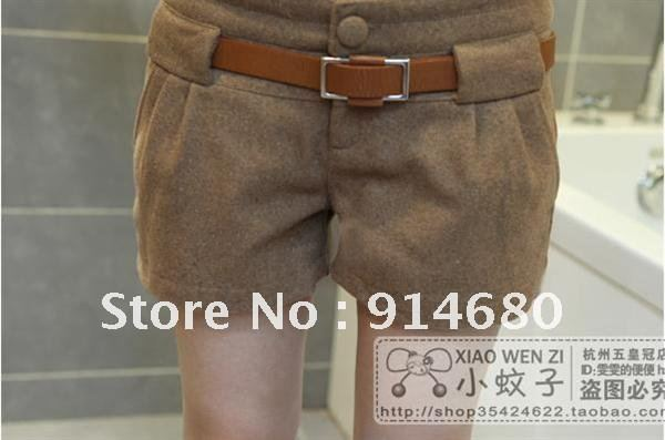 Free shipping !2012 Autumn Winter Hot buy  New shorts Giving belt  Wholesale Three colors Three sizes