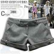 Free shipping,2012 casual women's  woolen shorts woolen boot cut jeans mid waist straight pants