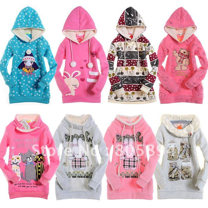 Free Shipping 2012 Children's Hoodies Bear Hoodie Kid's Fleece Sweatershirt Retail