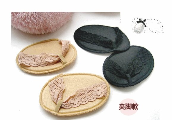 Free Shipping, 2012 fashion peds & liners / beautiful lace / Flip-flops design / sock liner / Invisible design / non-slip mat