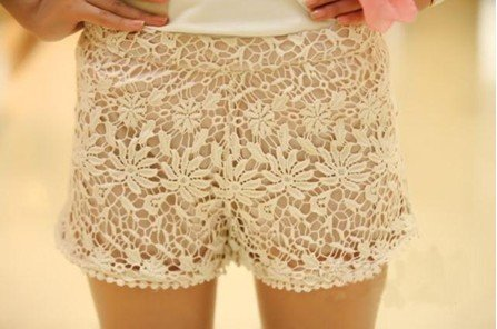 Free shipping 2012 Free Shipping Band design Sweet Lace Crochet Flower Shorts leggings Hot pants   EF12135