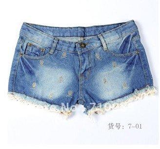 Free Shipping  2012 hot sale low price denim shorts,so fashion ladies shorts ladies shorts