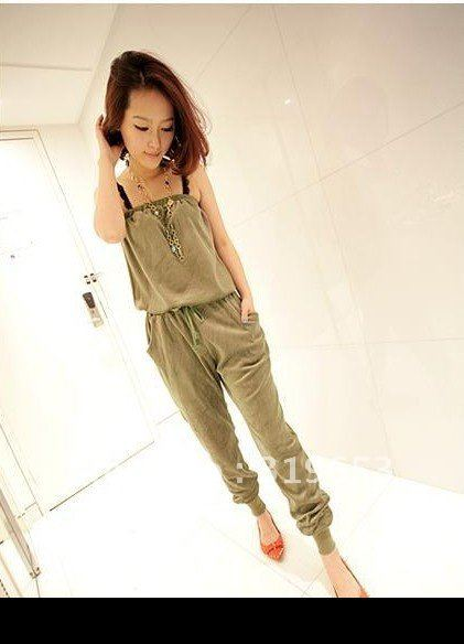 Free shipping +   2012 Hot Sell Fashional Woman Korean style Strapless  Jumpsuit