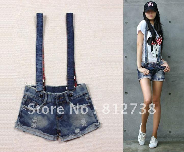 Free shipping 2012 Hotsale Summer Women Short Jeans, Pants Jumpsuit Women, Female Bib,Women Overalls Jeans