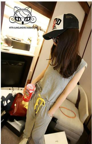 Free Shipping 2012 New Arrival Miss In Women's Leisure Sleeveless Romper Strap Short Jumpsuit