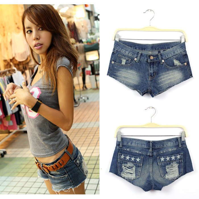 Free Shipping 2012 New Arrival Sexy Women Jeans Shorts Hole Denim Short Pants