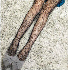 Free Shipping, 2012 New Arrival Spider Web Fishnet Stocking, Tight Black Panty Hose, PH029
