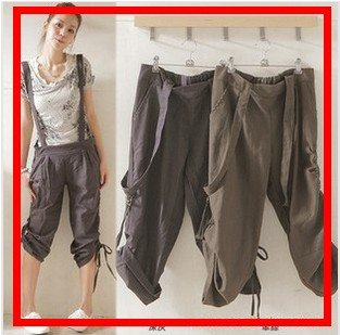 Free shipping/2012 new/Blended/leisure trousers/belt/loose/condole belt trousers/pants/Jumpsuits/RG1205011