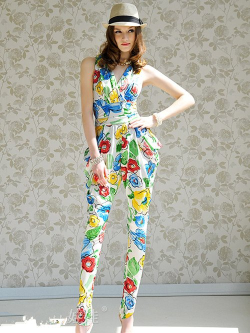 free shipping 2012 new design Women Fashion Sexy Sleeveless Romper Strap ladies Jumpsuit Casual Jump suit pants 6108