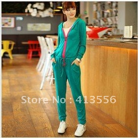 free shipping 2012 new fall and winter clothes women's fashion casual hit-color knit sweater harem jumpsuit ow67909